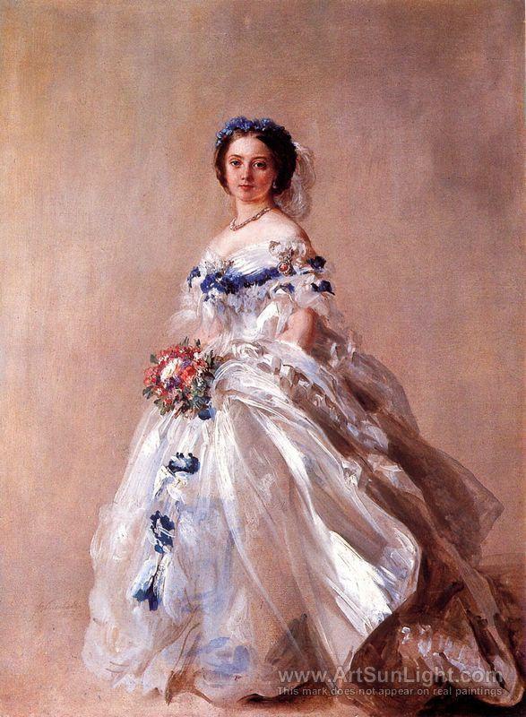 Portrait of Victoria, Princess Royal, later Empress Friedrich - Franz Xavier Winterhalter
