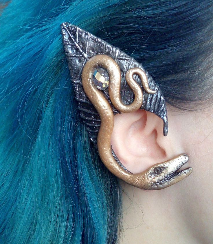 Excited to share the latest addition to my #etsy shop: Snake ear cuff / Elf ear cuff/ Polymer clay ear cuff / Pagan jewerly / Faerie earring / Copper wire ear cuff #jewelry #earrings #celtic http://etsy.me/2F5xwOJ