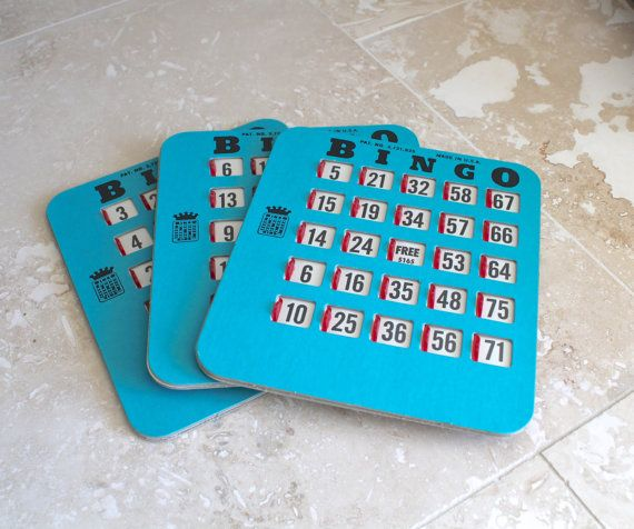 Bingo Cards for Altered Art Vintage Bingo King shutter cards with by CheekyChimpTreasures