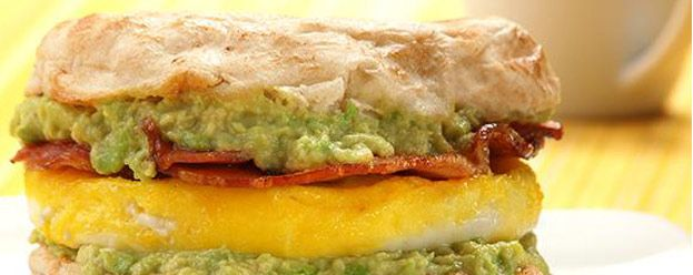 Bacon, Egg and Avocado Breakfast Sandwich - just use gluten-free bread or gluten-free english muffin! I will be eating this for breakfast tomorrow morning!!