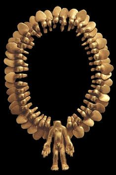 Cosmology Pre-Columbian golden necklace 600 AD