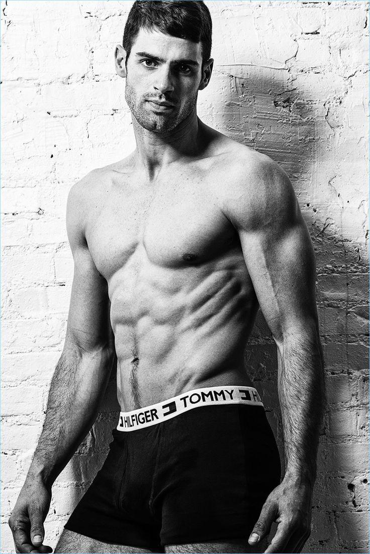 Chad White models Tommy Hilfiger underwear.