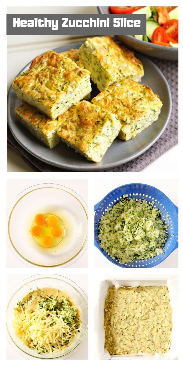 Healthy Zucchini Slice Recipe Foodgasm Pinterest Healthy