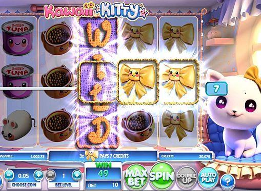 Kawaii Kitty в онлайн казино с выводом денег  Kawaii Kitty - онлайн игра от разработчика Betsoft, героиней которой стала домашняя кошка. Вы будете получать моментальные выплаты при помощи дикого символа и 10 линий. Также с выводом денег из казино помогут повторные вращения и риск-игра.