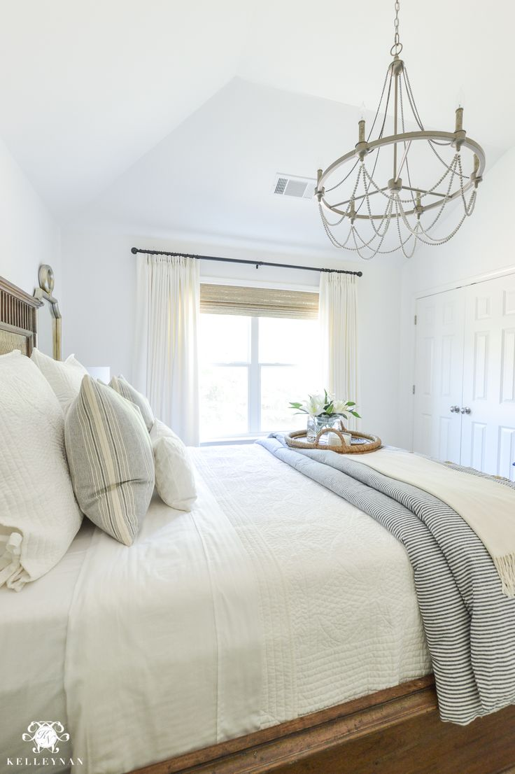 One Room Challenge Blue And White Guest Bedroom Reveal Before After Makeover