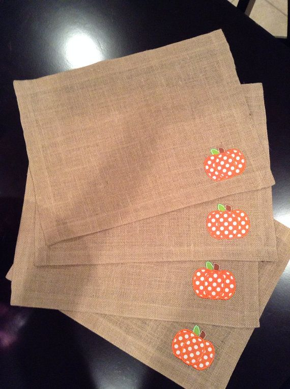 Burlap Fall Placemats on Etsy, $25.00