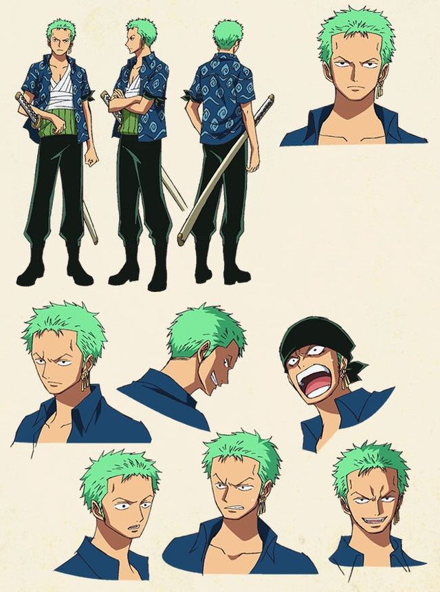 Anime Characters One Piece : Character design zoro d ideas pinterest