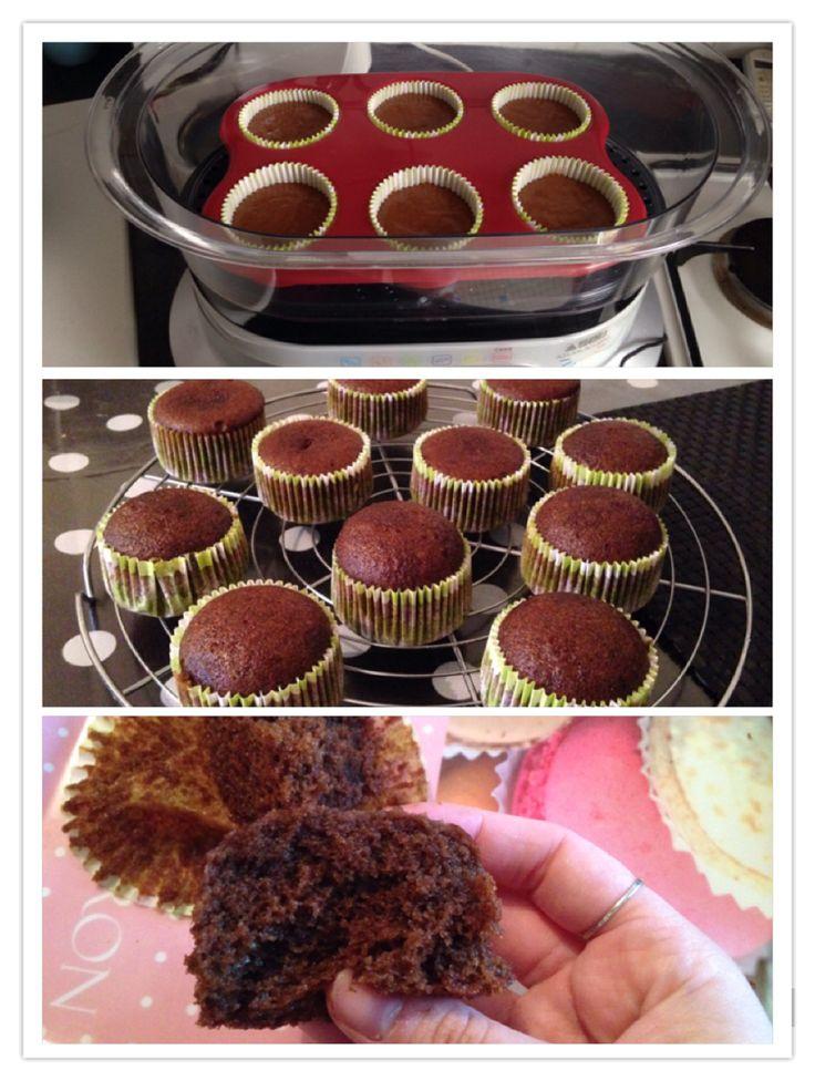 Moelleux au chocolat sans beurre cuit au cuit vapeur ( recette dans commentaire)