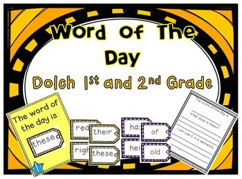 Word Of The Day 1st and 2nd Grade
