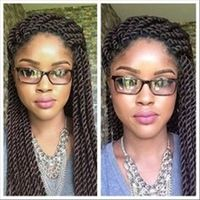 Hot 2016 Havana Mambo Senegalese Twist 12'' -24'' Synthetic Kanekalon Kinky Marley Twists Braiding Hair Black Hair Extensiones