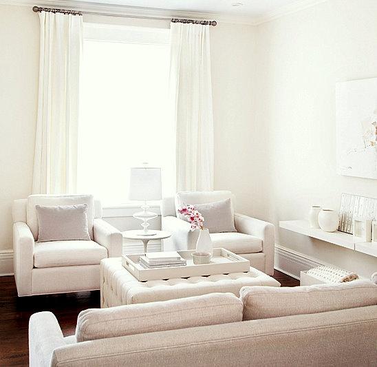 Delightful White Living Room