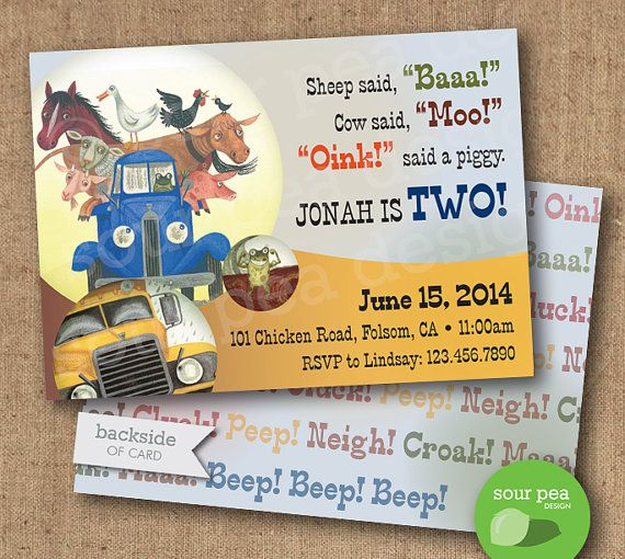 "DIY Printable - Custom Birthday Invitation - ""Little Blue Truck"" (Etsy) $20"