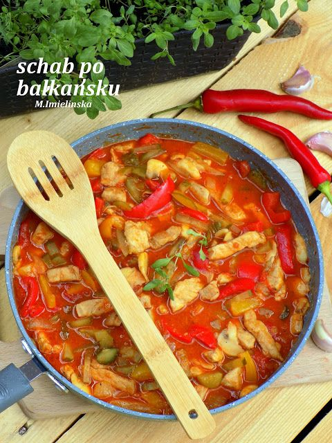 Domowa Cukierenka - Domowa Kuchnia: schab po bałkańsku