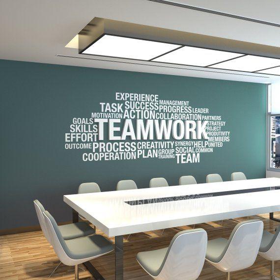 Office Wall Art, Office Decor, Office Wall, Office Wall Decor, Teamwork Dimensional, Teamwork 3D, Office Decals, Motivational Art – SKU:TE3D