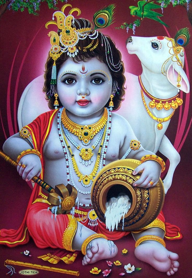 baby krishna 3d wallpapers