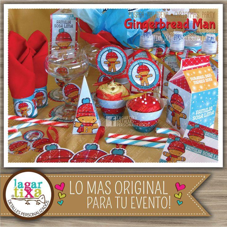 https://www.etsy.com/mx/listing/482519892/fiesta-imprimible-mono-de-jengibre-cena #gingerbreadman #christmas #jengibre #cookies #ChristmasDecorations #partyprintables #events