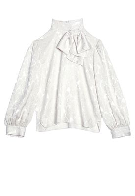 VIOLETA BLOUSE WITH BOW by Alice + Olivia