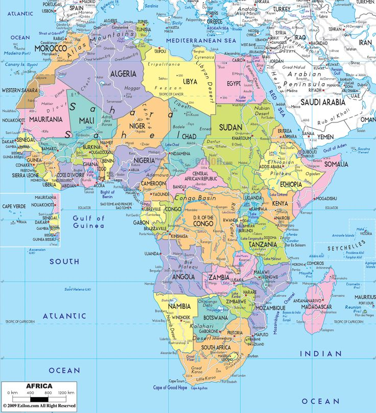 Best African Countries Map Ideas On Pinterest Africa Map - Map from us to african