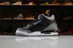 e30adeaefc8a37 Mens Nike Air Jordan 3 Retro Black Cement 2018 854262-001 Boy Basketball  Shoes