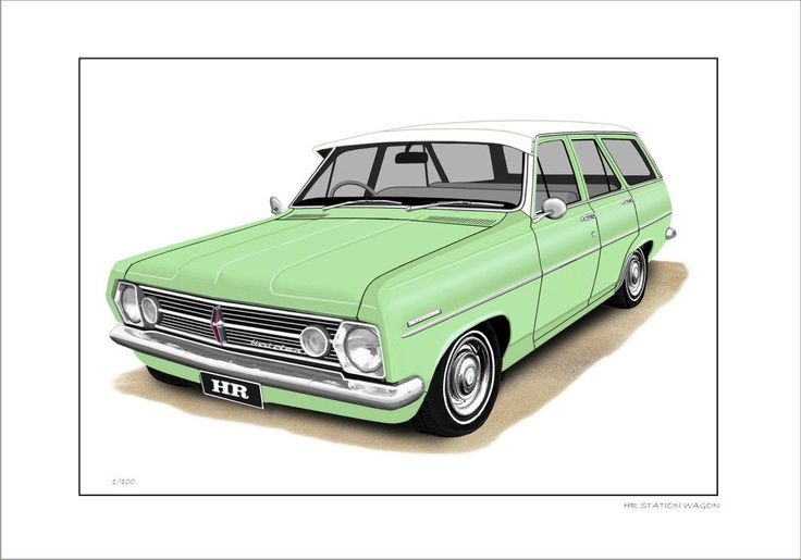 66' 67' HOLDEN HR STATION WAGON 186 LIMITED EDITION CAR PRINT AUTOMOTIVE ARTWORK | eBay