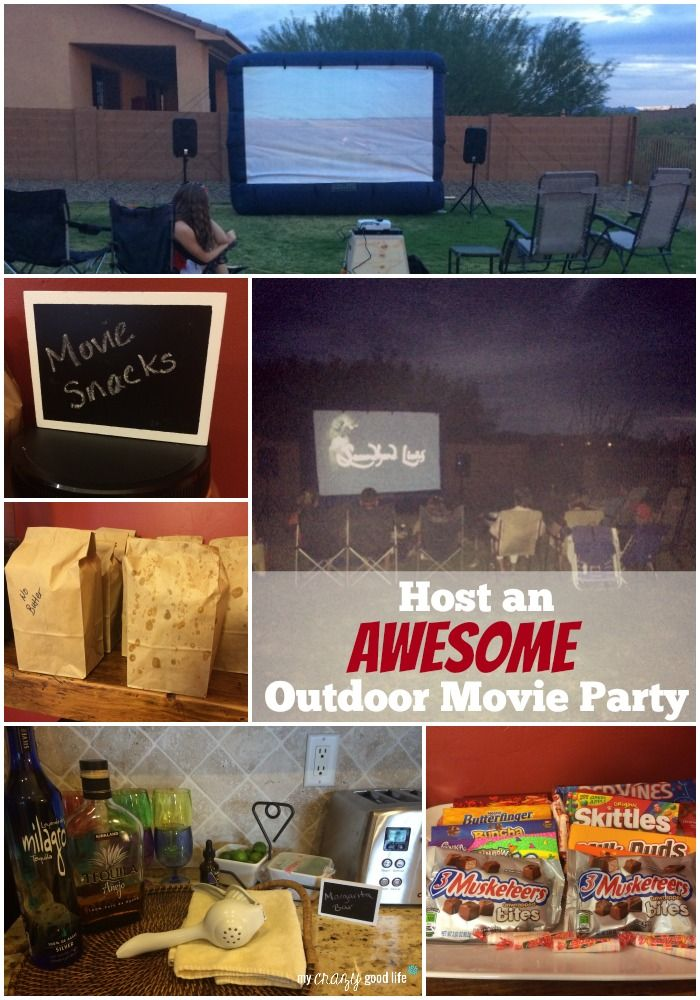 Outdoor movie nights are great on long weekends, for tween and teen birthday parties, and neighborhood parties!