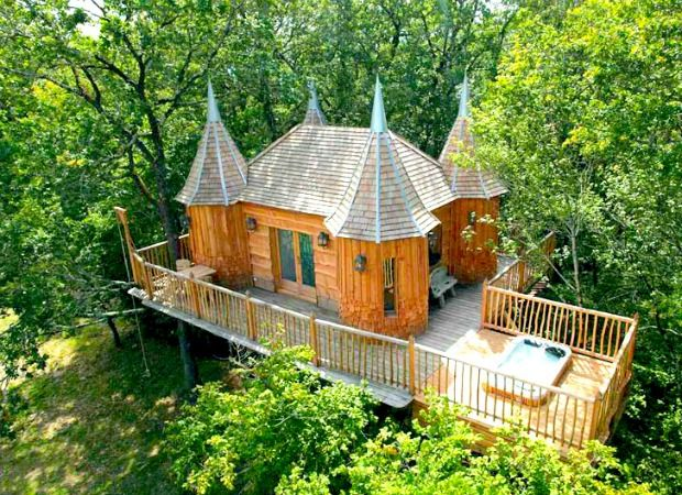 Sleep Among the Trees in an Adorable Mini Castle