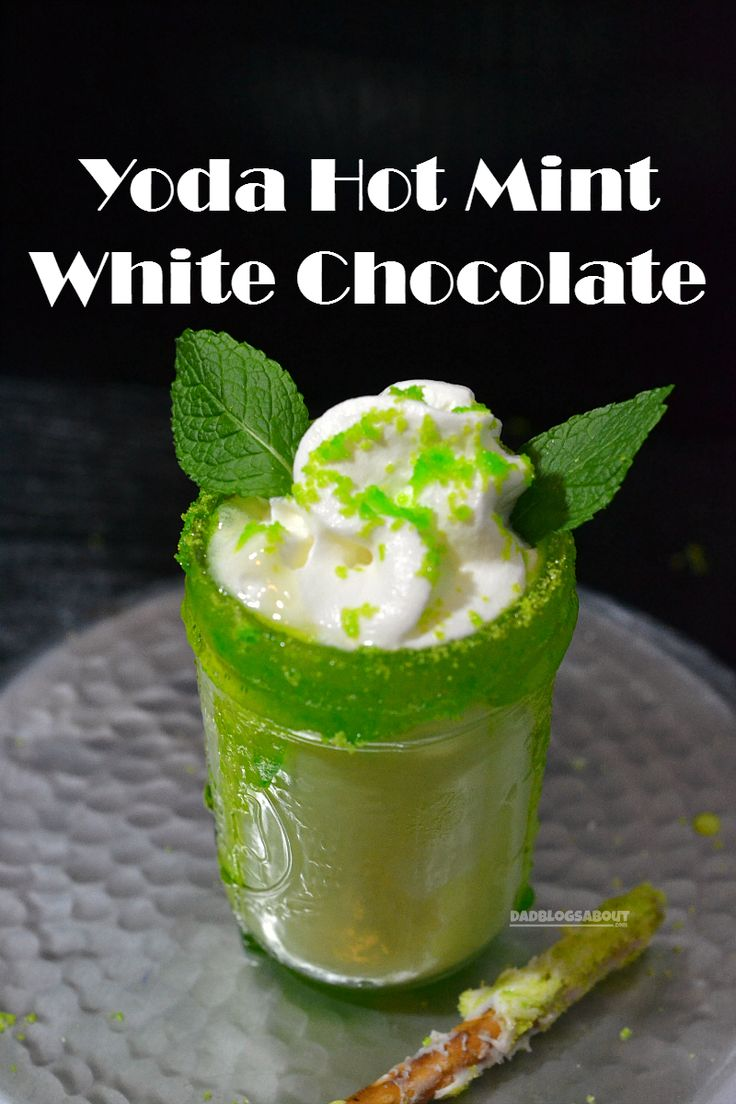 Let the Star Wars countdown begin with this delicious Yoda Hot Mint White Chocolate drink recipe.