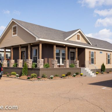 Best 25 small manufactured homes ideas on pinterest - Front porch designs for modular homes ...