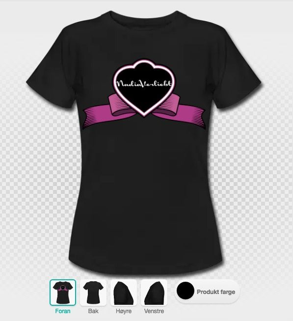 #nadiaverliebt #t-Shirt #black #loop #design #designer #brand #branding #logo #women #fashion #clothing #creative