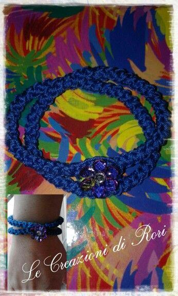 """Bracciali """"Colors"""" di Rori.  I bracciali """" Colors"""" , realizzati interamente a mano, sono personalizzabili nei colori del filato e nei charms.   Ecco il modello doppio giro Scegli il tuo preferito! https://m.facebook.com/pages/Le-Creazioni-di-Rori/342186462499019"""