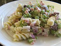 Ham And Peas Make This Pasta Salad Perfect For Lunch Or