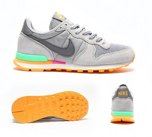 nike internationalist trainers womens grey