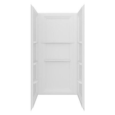 Mirolin Strada 36-in x 36-in White Acrylic Shower Wall Surround Side and Back Walls
