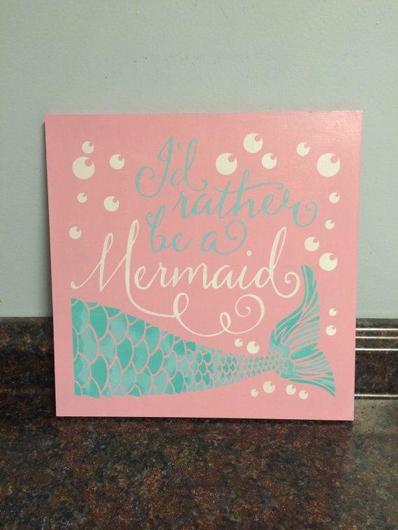 mermaid nursery mermaid wall decor mermaid by JessieAnnCreations