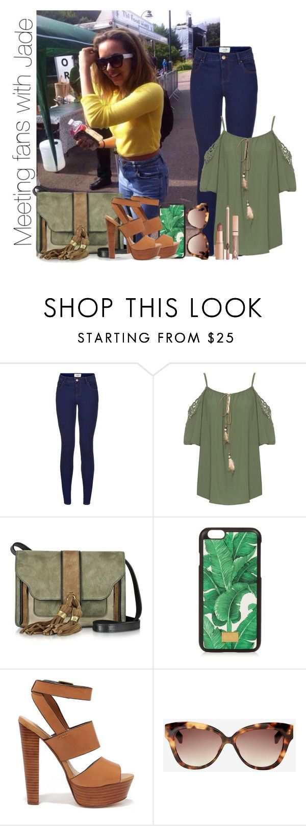 """""""Meeting fans with Jade"""" by little-black-princess ❤ liked on Polyvore featuring New Look, WearAll, L'Autre Chose, Dolce&Gabbana, Steve Madden and Linda Farrow"""