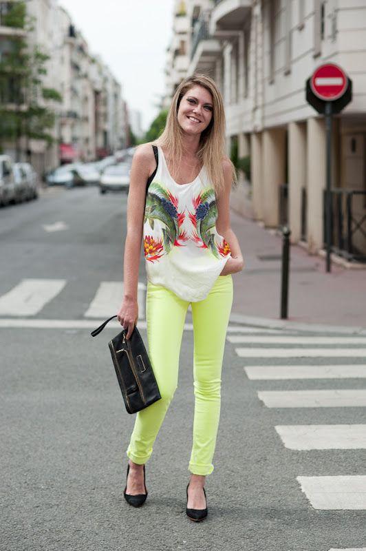 Pantalon jaune fluo