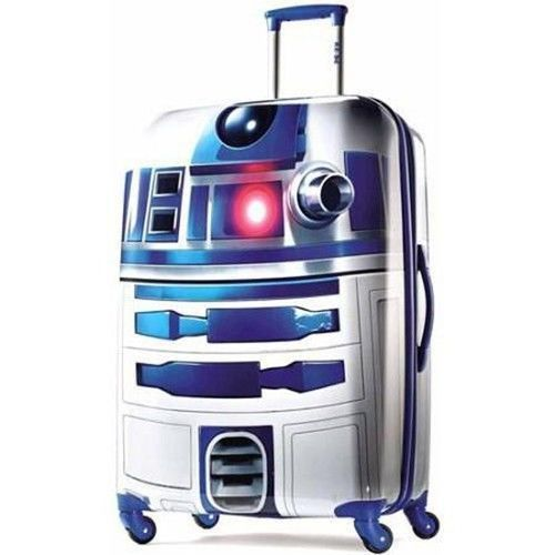 Star Wars R2D2 Suitcase Spinner Hardside Upright Wheeled 28 In Handle Travel New #StarWarsR2D2Suitcase