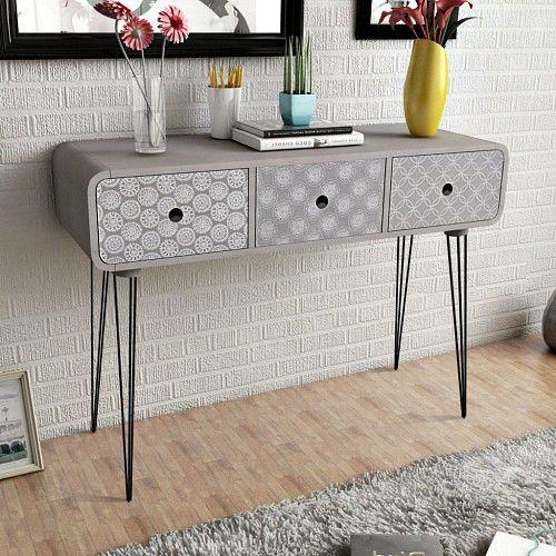 Modern Console Table Side Cabinet 3 Storage Drawers Sideboard Hallway Furniture  #SmartDealsMarket #Modern