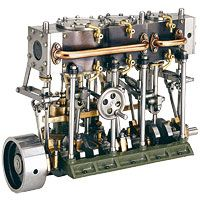 The Stuart Models triple-expansion engine. Available only as a set of unmachined castings (no bar stock included). And all for only £584! Of course, I would also have to buy a small metal lathe and a few other bits and pieces..