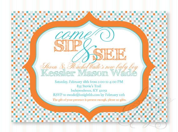 like the wording: Shower Ideas, Colors Combos, Shower Printable, Sip And See, Diy Custom, Printable Diy, Invitations Templates, Neat Ideas, Baby Shower