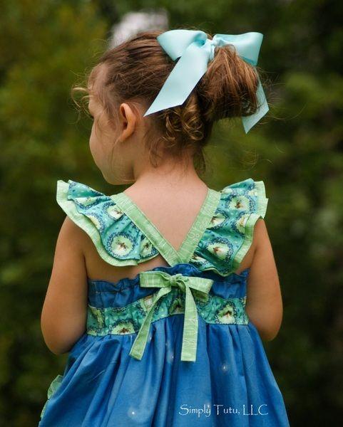 Dahlia's Girls Boutique Double Flutter Top, Dress and Maxi PDF Pattern