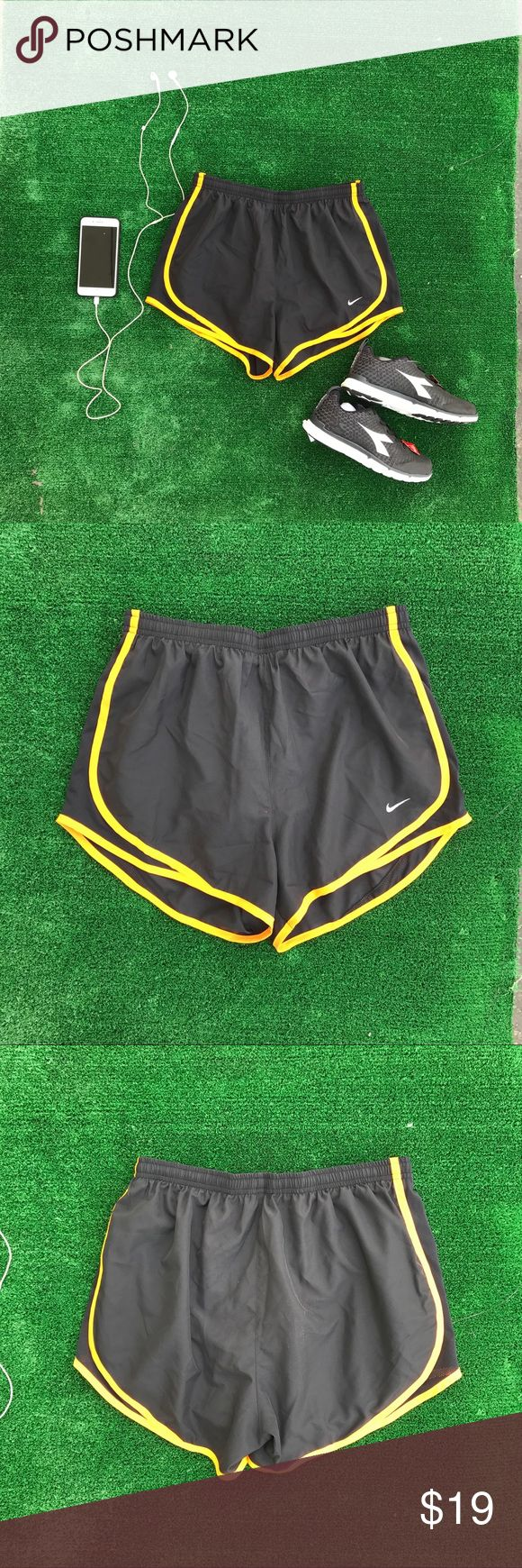 Nike Women's Dri Fit Tempo Black Orange Shorts 073 New with tags  Sizes xs-m  Great little shorts  For running and working out Nike Shorts