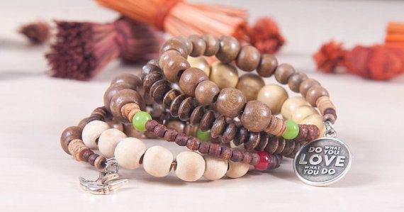 Check out this item in my Etsy shop https://www.etsy.com/listing/227780516/boho-wooden-beads-bracelet
