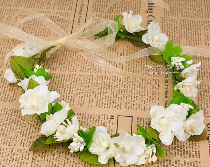 "2X Free Shipping Hot New Hair Bridal Wedding Wreath Flower headbands girl Garland Bride Accessory Artificial Flower Wreath! $<span itemprop=""lowPrice"">11.90</span> - <span itemprop=""highPrice"">15.00</span>"