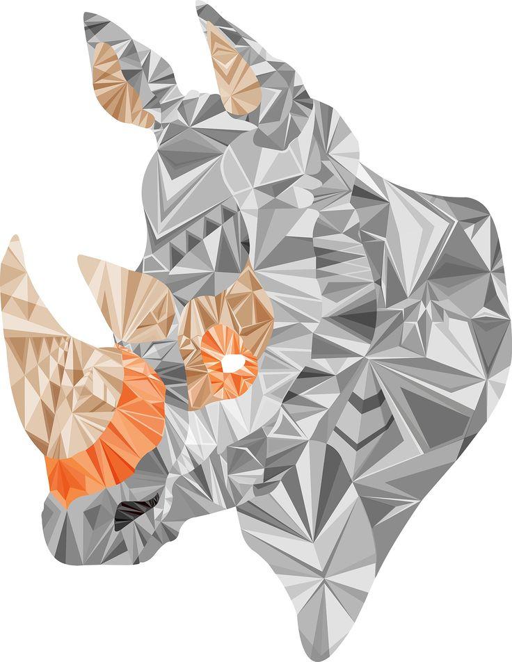 Animal Wall Art - Rhyno | $299.00