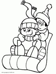 free coloring pages winter theme - photo#27