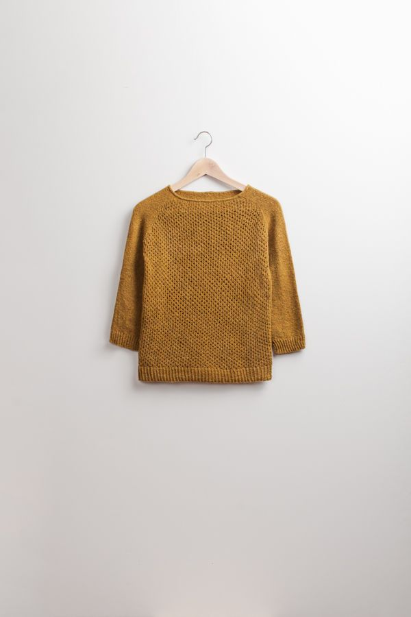 "Pattern by Brooklyn Tweed - ""Carpino"" Lace Front Raglan Pullover"