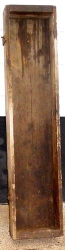 Vintage-Wooden-Box-Antique-Primitive-Military-Crate-Long-Tool-Box-Cast-Hardware