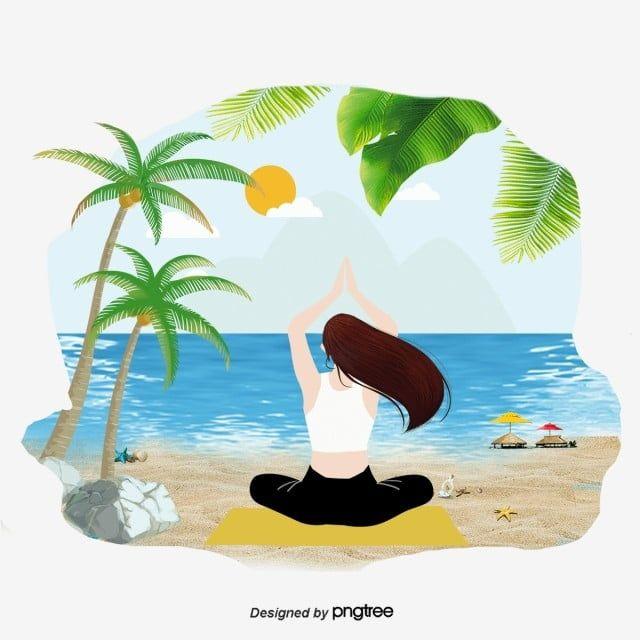 الرسوم التوضيحية الاسترخاء على شاطئ البحر والاستمتاع عطلة الاسترخاء استمتع الاسترخاء Png وملف Psd للتحميل مجانا In 2020 Illustration Seaside Pikachu