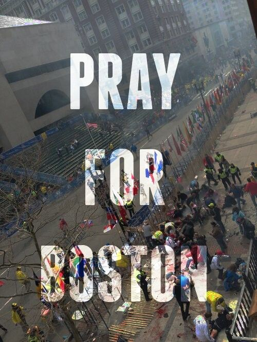 Pray for Boston. The Boston Marathon Bombing. Repin this on your most viewed board to spread the love for victoms in the bombing <3